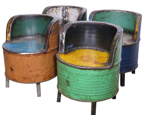Recycled Oil Drum Chairs for Hire