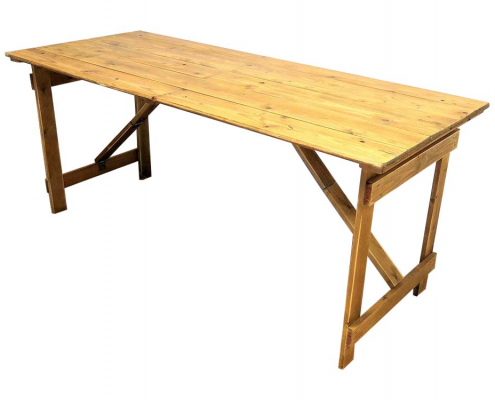 Wooden Trestle Table for Hire Scotland
