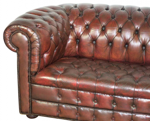 Classic Brown Leather Sofa to Hire