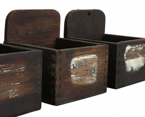 Small Vintage Wooden Boxes for Hire