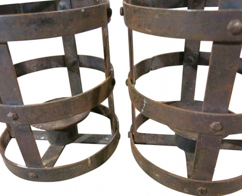 Rusty Metal Candle Holders for Hire