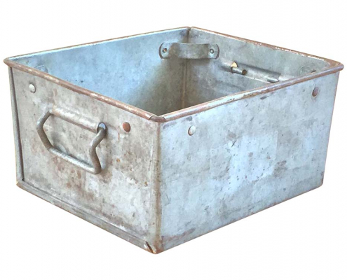 Large Vintage Metal Boxes for Hire