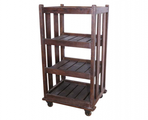 Industrial Wooden Slatted Shelf for Hire