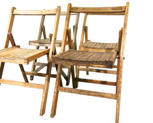 Vintage Wooden Folding Chair for Hire