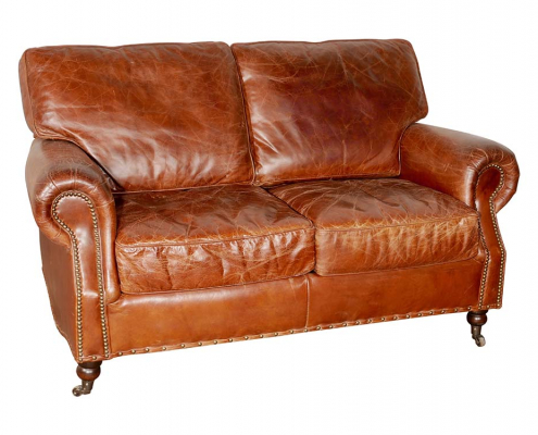 Vintage Brown Leather Sofas for Hire London, South East