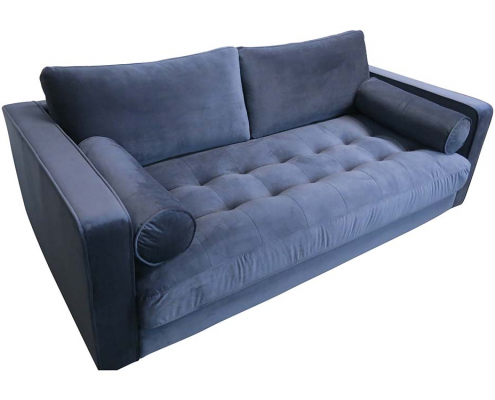 Navy Velvet Sofa for Hire
