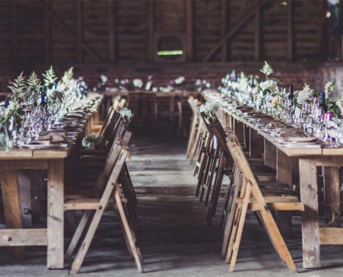 Vintage Trestle Tables for Hire