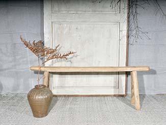 Rustic Elm Bench