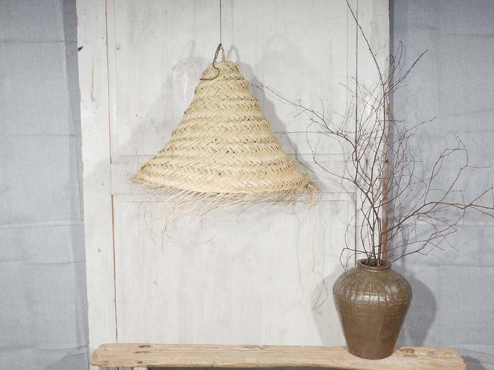 Conical Seagrass Lampshade 40""