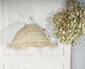 "Half Round Seagrass Lampshade 50"""