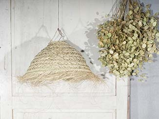 Half Round Seagrass Lampshade 50""