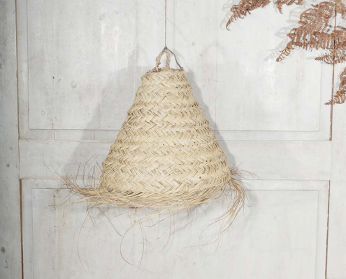 Conical Seagrass Lampshade 30""
